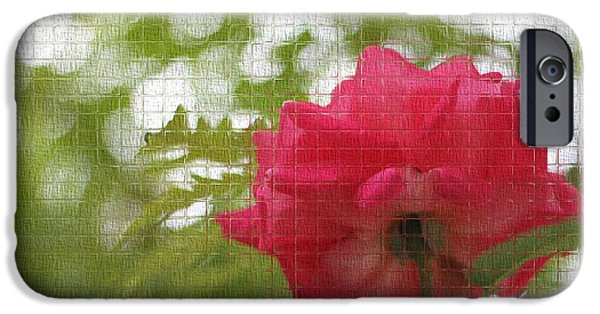 Mosaic iPhone Cases - Mosaic Rose iPhone Case by Dan Sproul