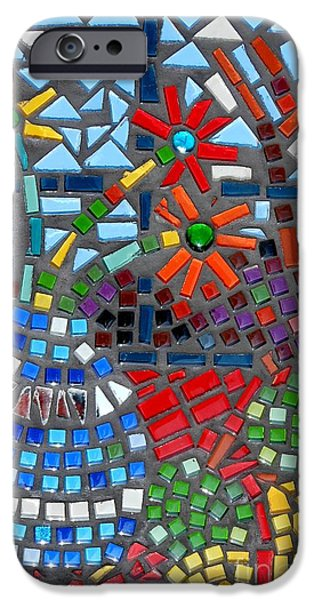 Food And Beverage Glass Art iPhone Cases - Mosaic Still Life iPhone Case by Caroline Street