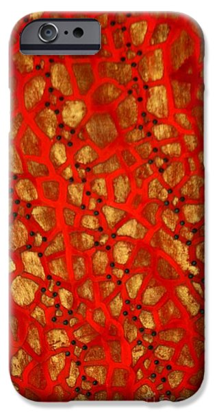 Mosaic iPhone Cases - Mosaic Tile Jamaica iPhone Case by Marjorie Imbeau