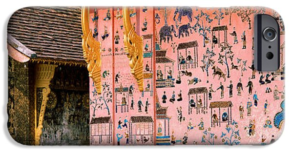 Buddhist iPhone Cases - Mosaic, Wat Xien Thong, Luang Prabang iPhone Case by Panoramic Images