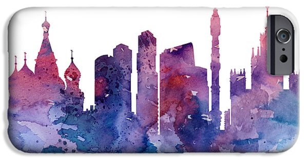 Moscow Paintings iPhone Cases - Moscow iPhone Case by Luke and Slavi