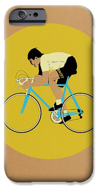 Contemporary Art Drawings iPhone Cases - Moser iPhone Case by Eliza Southwood