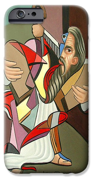 Stretched Canvas iPhone Cases - Moses iPhone Case by Anthony Falbo