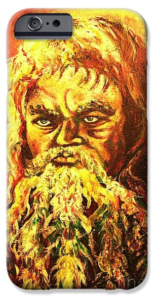 Old Man With Beard iPhone Cases - Moses At The Burning Bush iPhone Case by Carole Spandau
