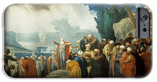 Elected iPhone Cases - Moses elects the Council of Seventy Elders iPhone Case by Jacob de Wit