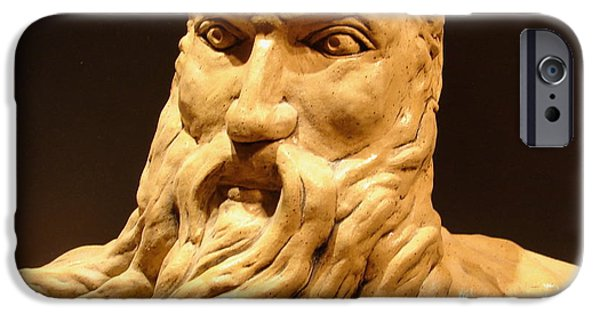 Slaves Sculptures iPhone Cases - Moses Michelangelo  iPhone Case by Joseph Hawkins