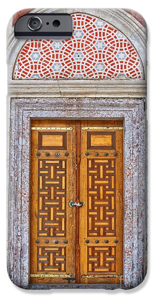 Religious Art iPhone Cases - Mosque doors 04 iPhone Case by Antony McAulay