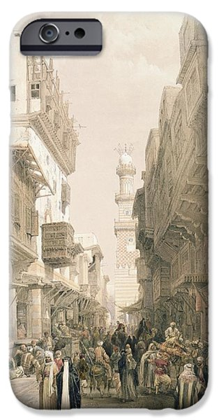 Ancient Paintings iPhone Cases - Mosque El Mooristan iPhone Case by David Roberts