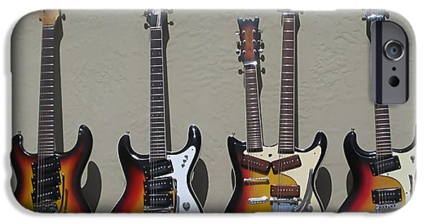 Johnny iPhone Cases - Mosrite Guitar Collection iPhone Case by Marvin Blaine