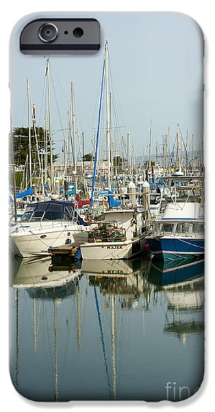 Moss Landing Boat Harbor iPhone Case by Artist and Photographer Laura Wrede