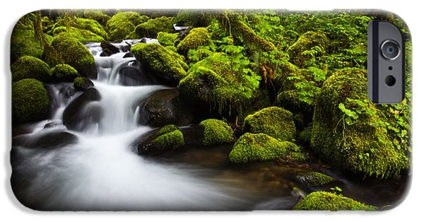 Darren iPhone Cases - Mossy Arch Cascade iPhone Case by Darren  White