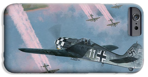P-51 Mustang iPhone Cases - Most Dangerous Game iPhone Case by Wade Meyers