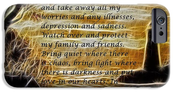 Interior Scene iPhone Cases - Most Powerful Prayer with Lighthouse Scene iPhone Case by Barbara Griffin