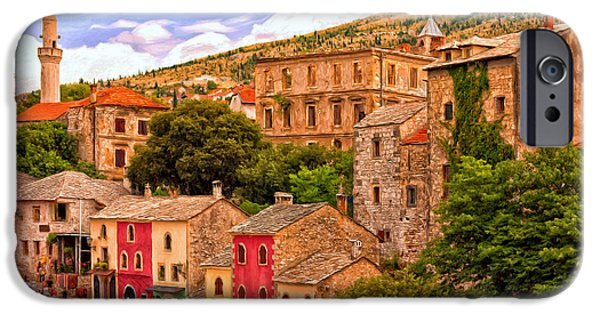 Staris iPhone Cases - Mostar iPhone Case by Michael Pickett