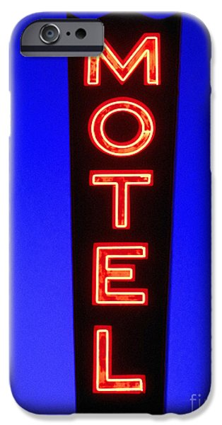 Neon iPhone Cases - Motel iPhone Case by Diane Diederich