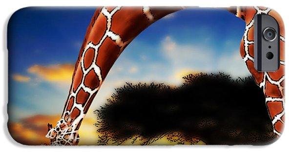 Figure iPhone Cases - Mother And Child iPhone Case by Jack Zulli