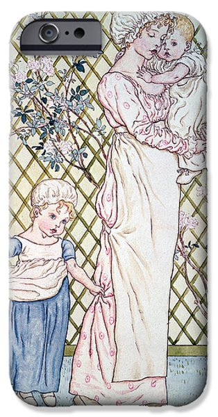 Following iPhone Cases - Mother And Child iPhone Case by Kate Greenaway