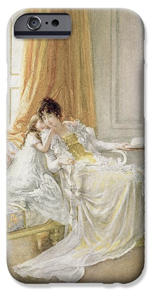 Furniture iPhone Cases - Mother and Child iPhone Case by Mary L Gow