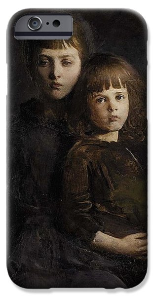 Abbott Handerson Thayer iPhone Cases - Mother and daugther iPhone Case by Celestial Images