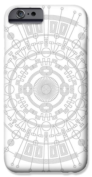 Hieroglyph iPhone Cases - Mother iPhone Case by DB Artist