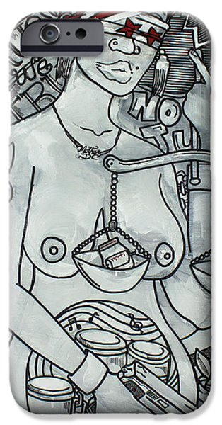 Ghetto Drawings iPhone Cases - Mother DC iPhone Case by Lovet Harris