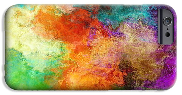 Abstract Canvas Paintings iPhone Cases - Mother Earth - Abstract Art iPhone Case by Jaison Cianelli