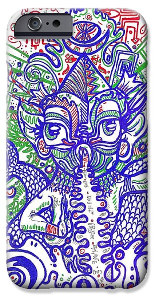 Hathor iPhone Cases - Mother Father iPhone Case by Anthony Tonich