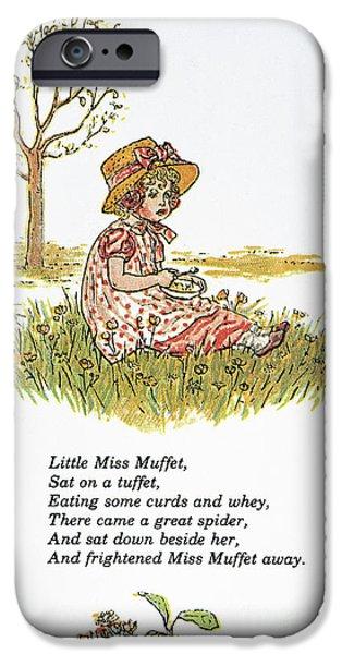 Porridge iPhone Cases - Mother Goose, 1881 iPhone Case by Granger