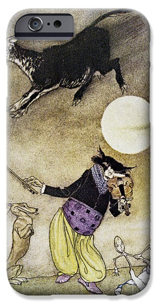 Mother Goose iPhone Cases - Mother Goose, 1913 iPhone Case by Granger