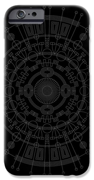 Hieroglyph iPhone Cases - Mother Inverse iPhone Case by DB Artist