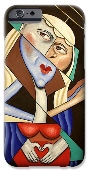 Mother Mary Digital Art iPhone Cases - Mother Mary iPhone Case by Anthony Falbo