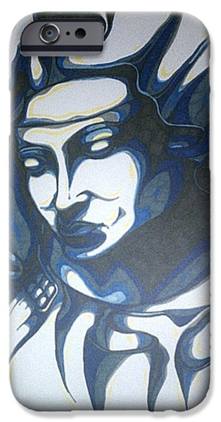 Religious Drawings iPhone Cases - Mother Mary Concept iPhone Case by Michael Toth
