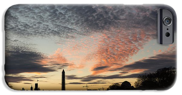 Smithsonian iPhone Cases - Mother Nature Painted the Sky Over Washington D C Spectacular iPhone Case by Georgia Mizuleva
