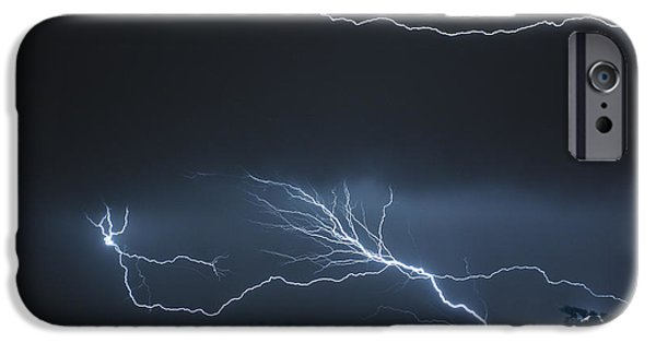 Sheets iPhone Cases - Mother Natures fireworks iPhone Case by Jeff Folger