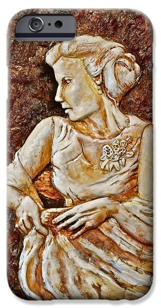 Bas Relief Reliefs iPhone Cases - Mother of the Bride iPhone Case by Phyllis Dunn