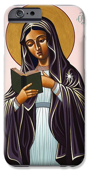 Harts iPhone Cases - Mother of the Incarnate Word 071 iPhone Case by William Hart McNichols