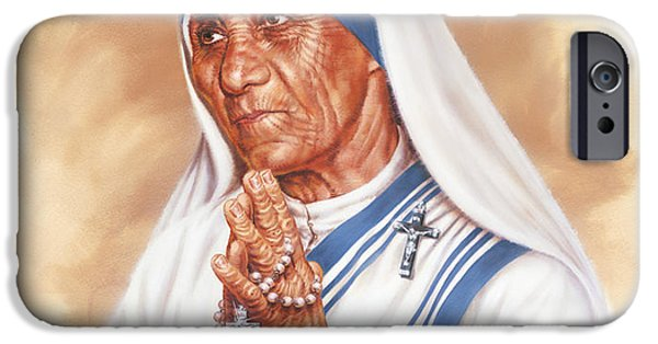 Mercy iPhone Cases - Mother Teresa iPhone Case by Dick Bobnick