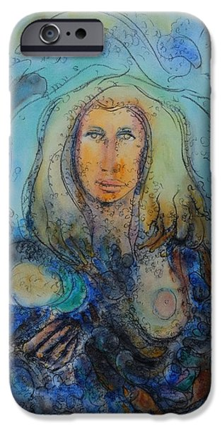 Biological Paintings iPhone Cases - Mother iPhone Case by Vandana Devendra