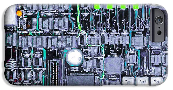 Circuit iPhone Cases - Motherboard Abstract 20130716 p38 square iPhone Case by Wingsdomain Art and Photography