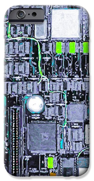 Motherboard Abstract 20130716 p38 square iPhone Case by Wingsdomain Art and Photography