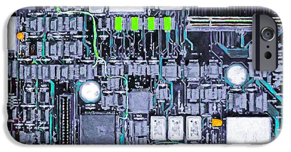 Circuit iPhone Cases - Motherboard Abstract 20130716 p38 iPhone Case by Wingsdomain Art and Photography