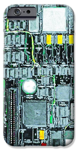 Motherboard Abstract 20130716 square iPhone Case by Wingsdomain Art and Photography