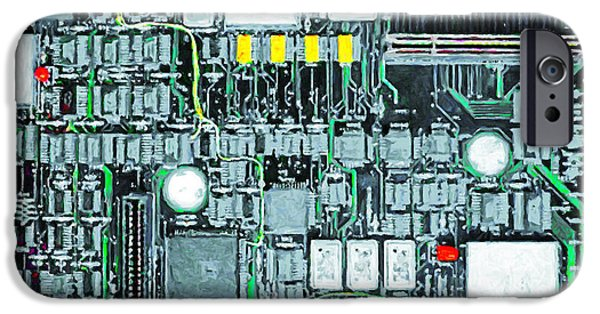 Circuit iPhone Cases - Motherboard Abstract 20130716 iPhone Case by Wingsdomain Art and Photography