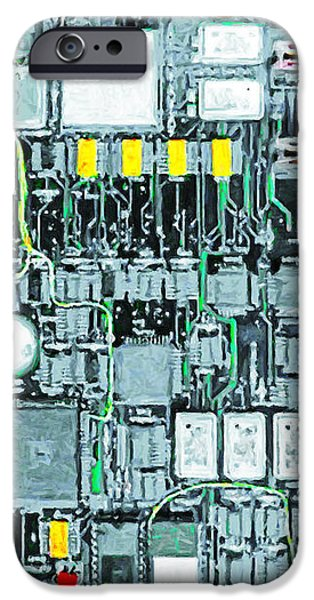 Motherboard Abstract 20130716 iPhone Case by Wingsdomain Art and Photography