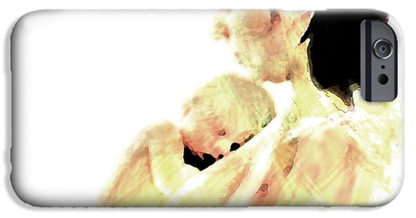 Bonding Mixed Media iPhone Cases - Motherhood iPhone Case by Lisa McKinney