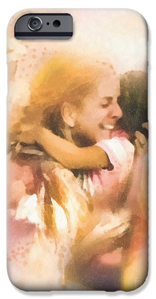 Missing Child iPhone Cases - Mothers Arms iPhone Case by Mo T