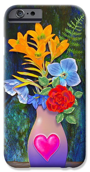 Mothers Day Bouquet iPhone Case by Teresa Ascone