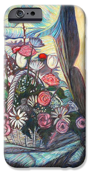 Basket Pastels iPhone Cases - Mothers Day Gift iPhone Case by Kendall Kessler