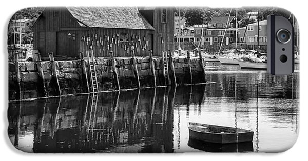 Rockport Ma iPhone Cases - Motif 1 - bw iPhone Case by Nikolyn McDonald
