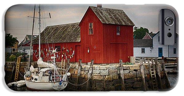 Fishing Shack iPhone Cases - Motif 1 - Rockport Harbor iPhone Case by Stephen Stookey